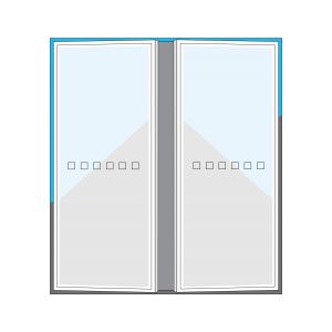 SHEAR Glass and Aluminium supply and install glass doors and windows. These are Pivot doors.